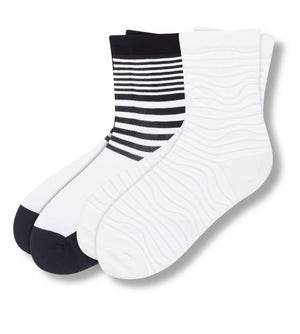 Samantha Jones Women's Sheer Crew Socks 2 Pack