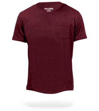 The Classic Wine Mega Soft Crew Neck Pocket Tee