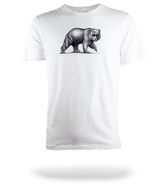 SuperSoft Crew Neck Tee white with walking bear logo