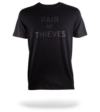 SuperSoft Crew Neck Tee Black with Pair of Thieves logo