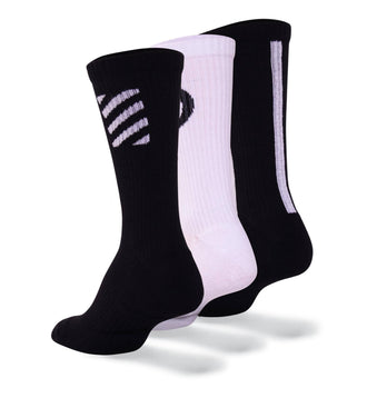 Special Edition Blackout Whiteout Cushion Crew Sock 3 Pack