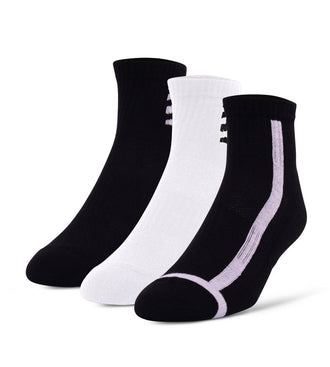 Special Edition Blackout Whiteout Cushion Ankle Sock 3 Pack