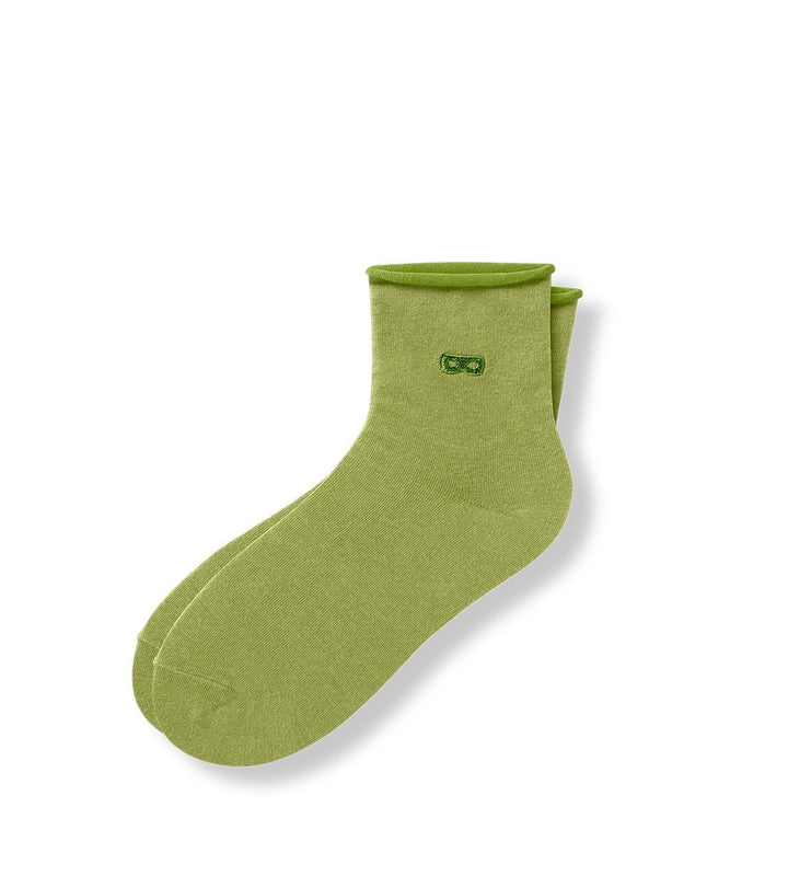 Lime Women's Prism Roll Top Ankle Socks