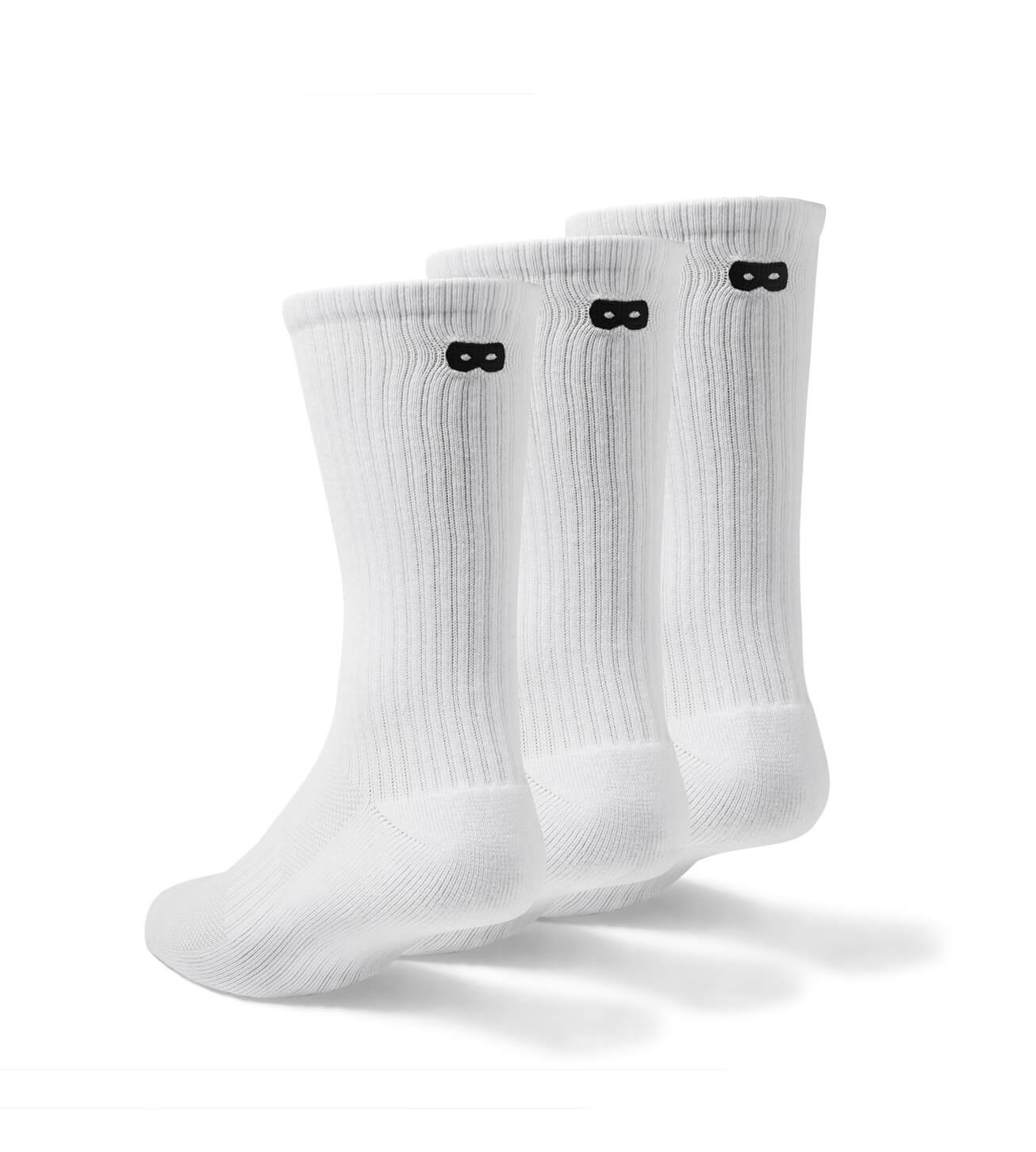 Whiteout Ribbed Men's Crew Socks 3 Pack
