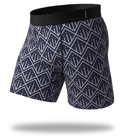Exit Pole In Navy SuperFit Long Boxer Brief