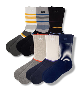 Abe Lincoln Tunnel Crew Socks 6 Pack