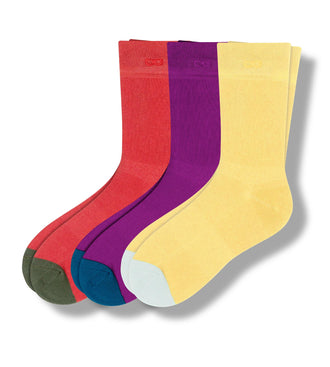 Bengal Tiger Woods Crew Sock - mineral red, light yellow, violet crew sock
