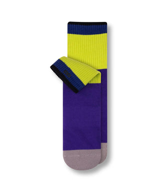 Blue, Green, and Purple Color Blocked Downfield Cushion Ankle Sock In Cobalt/Purple Rain