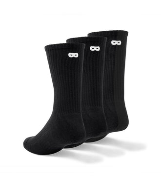 Ribbed Crew Sock black