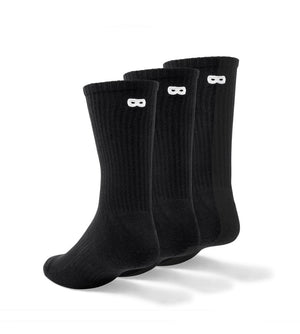 Blackout Ribbed Men's Crew Socks 3 Pack