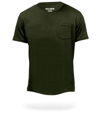 The Classic Cilantro Mega Soft Crew Neck Pocket Tee