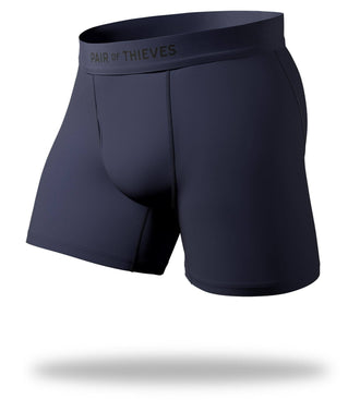 The Solid Dark Navy Cool Breeze Boxer Brief