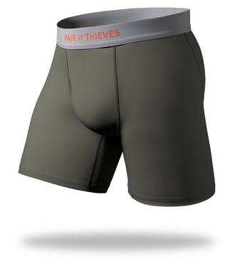 The Solid Seaweed Cool Breeze Long Boxer Brief
