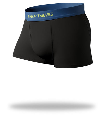 Cool Breeze Trunks in black with navy waistband