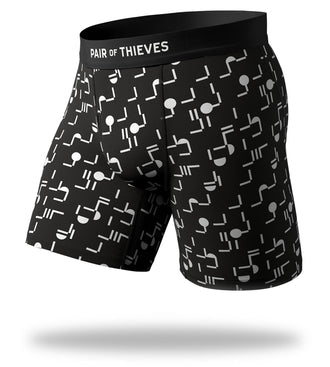 Where Is Everybody Cool Breeze Long Boxer Briefs with black and white design