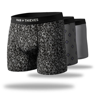 Drawing Arrows Mega Soft Boxer Brief 3 Pack