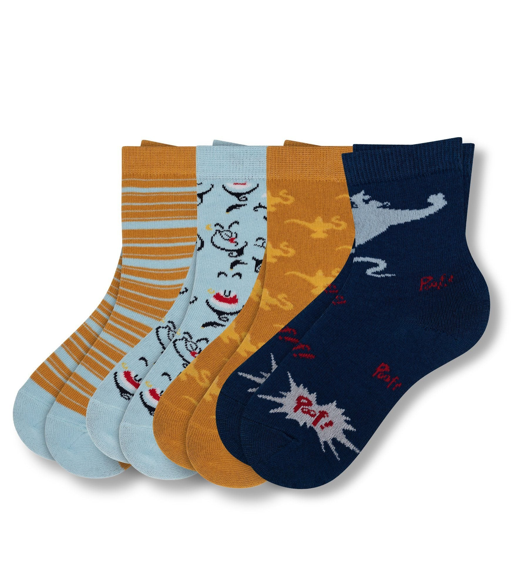 Aladdin Made You Look Kid's 4 Pack Crew Sock