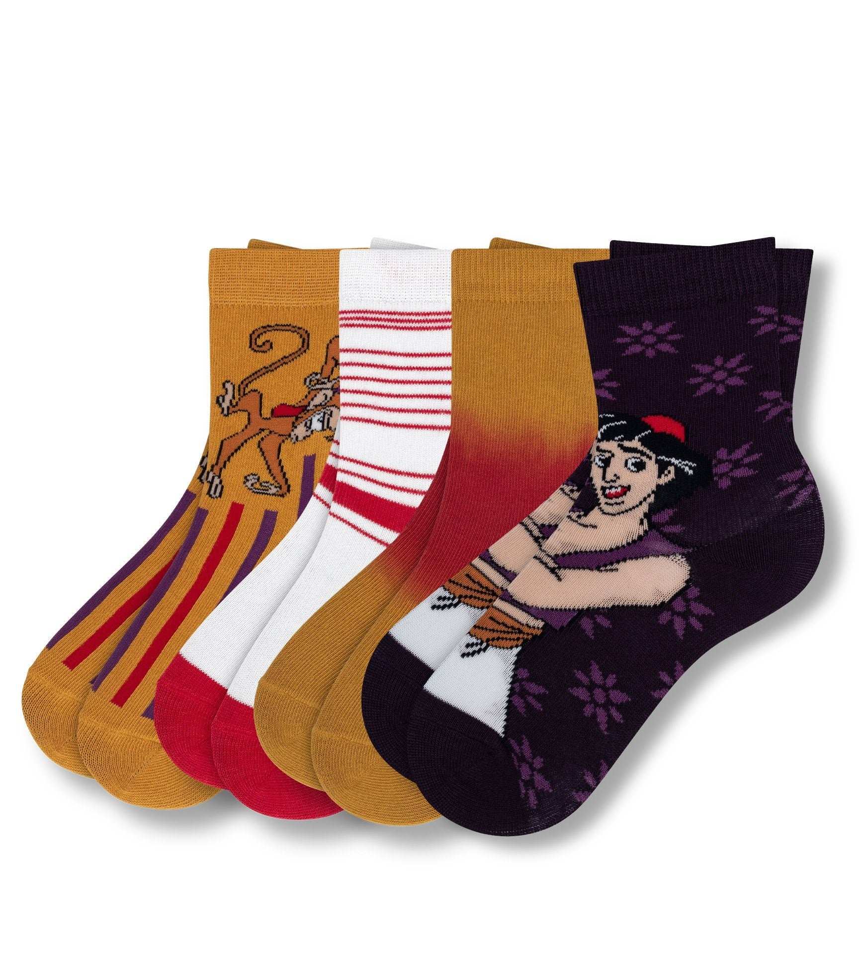 Aladdin Street Rat Kid's 4 Pack Crew Sock