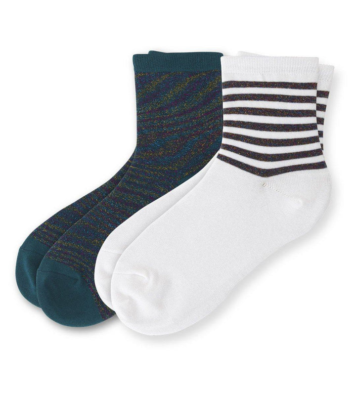 Shining Happy Women's Ankle Socks 2 Pack