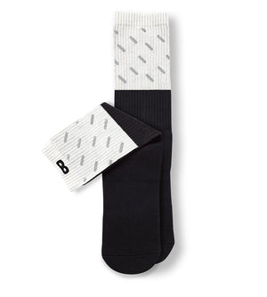Chocolate Rain Reflective Men's Cushion Crew Socks