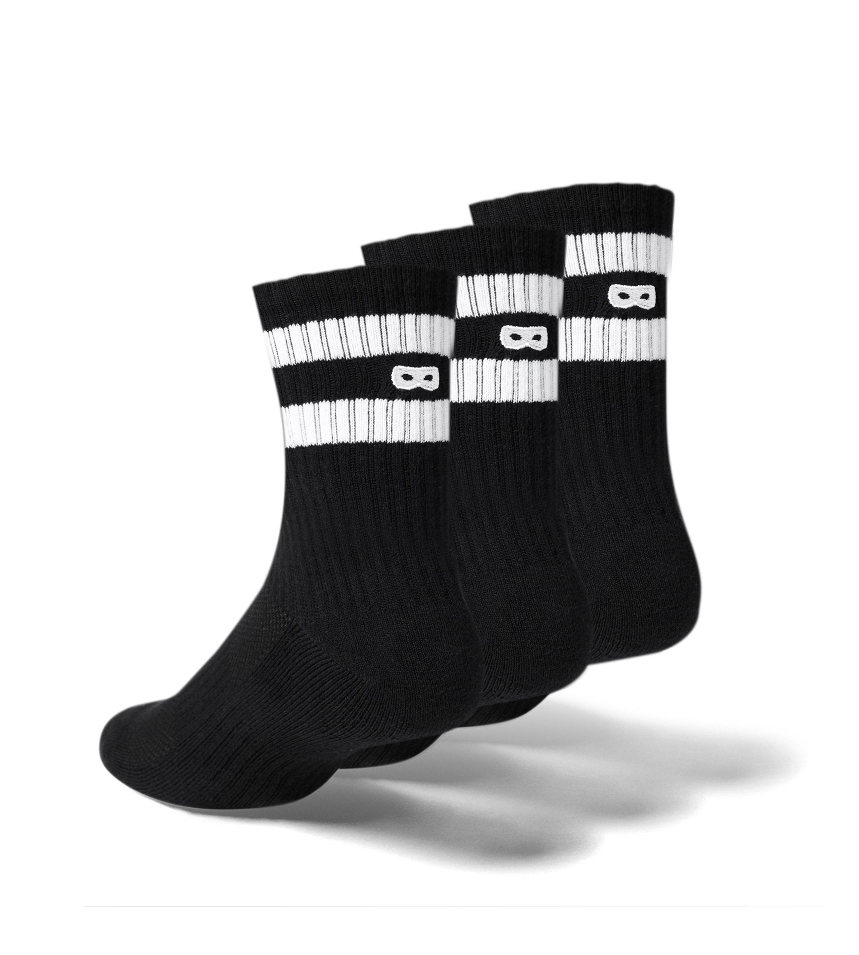 Blackout Women's Cushion Ankle Socks 3 Pack