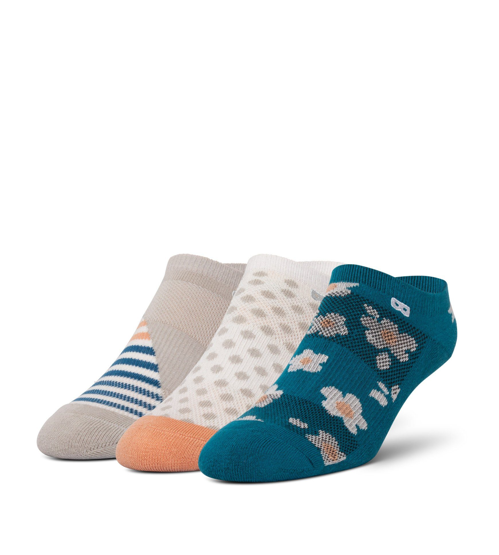 Evie Ethel Garland Women's Cushion Low-Cut Socks 3 Pack