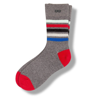 Long Story Short In Grey Men's Crew Socks