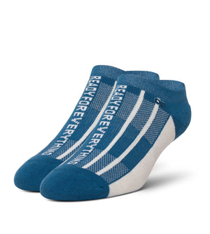 Laura Palmer Women's Cushion Low-Cut Socks Blue With White Ready For Everything