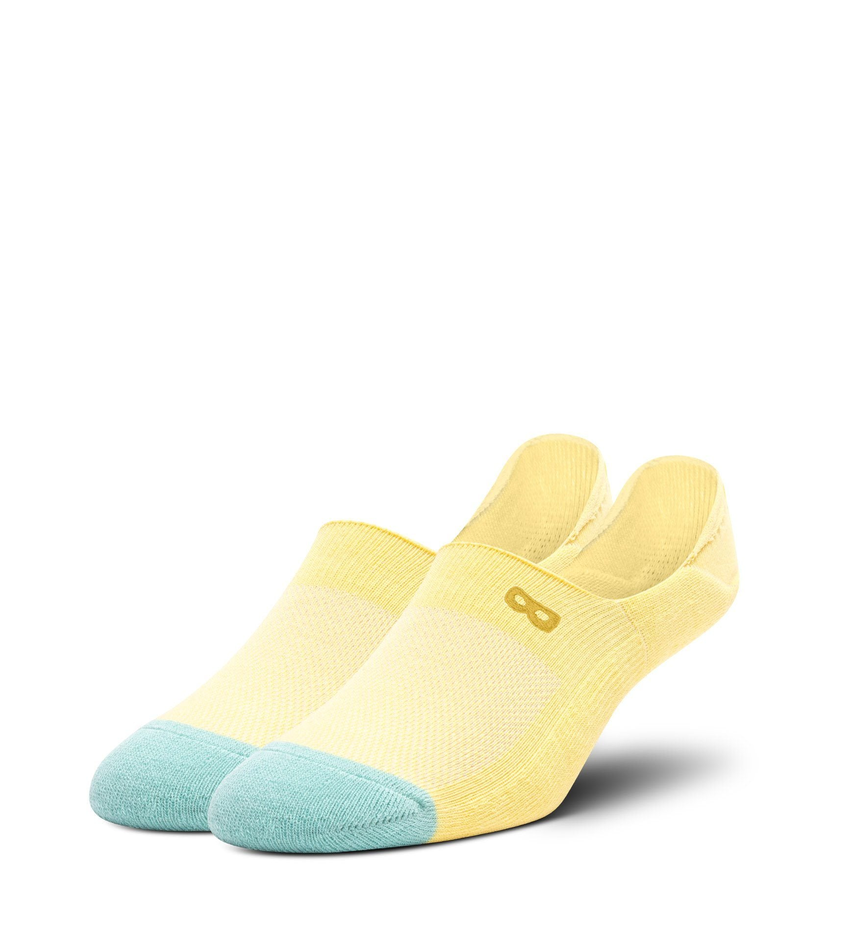 Yellow Men's Prism Cushion No Show Socks