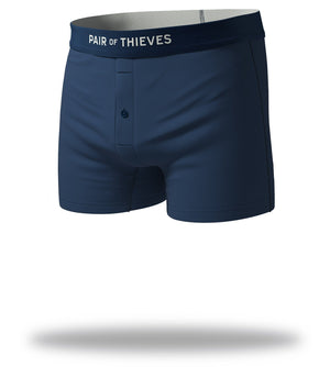 The Solid Navy Mega Soft Slim-Fit Boxers Front