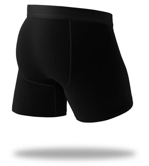 The Solid Black Navy Cool Breeze Boxer Briefs Back