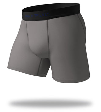 The Solid Gargoyle Grey Cool Breeze Boxer Brief