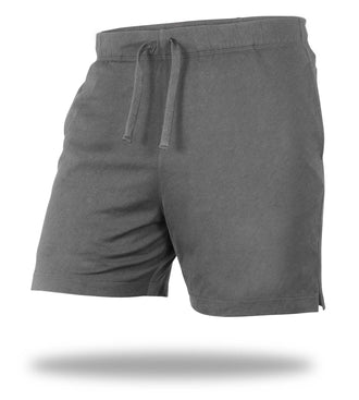 The Solid Charcoal Heather Grey Mega Soft Lounge Short
