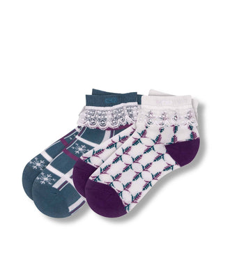 Frozen Winter Kid's Ankle Sock 2 Pack