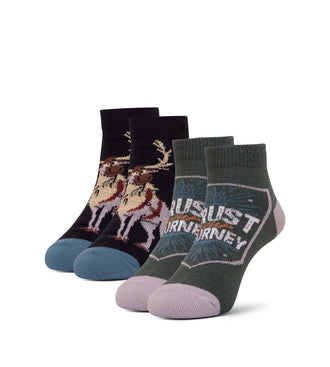 Frozen Born Of Cold Kid's Low Cut Sock 2 Pack