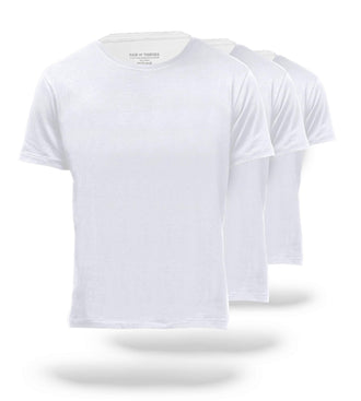 The Solid White Mega Soft Classic Crew Neck Tee 3 Pack