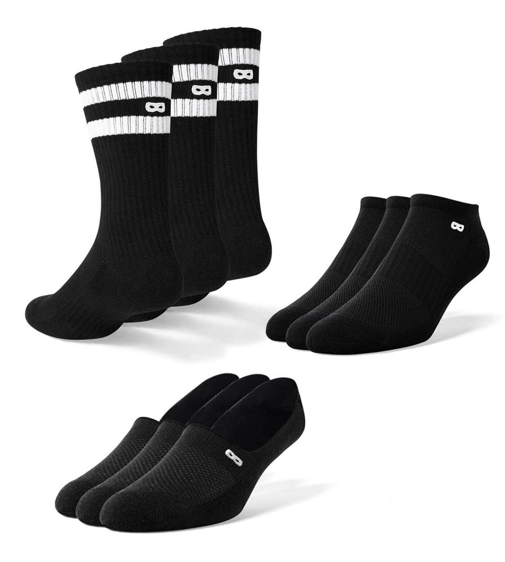 Women's Mega Blackout Socks 9 Pack