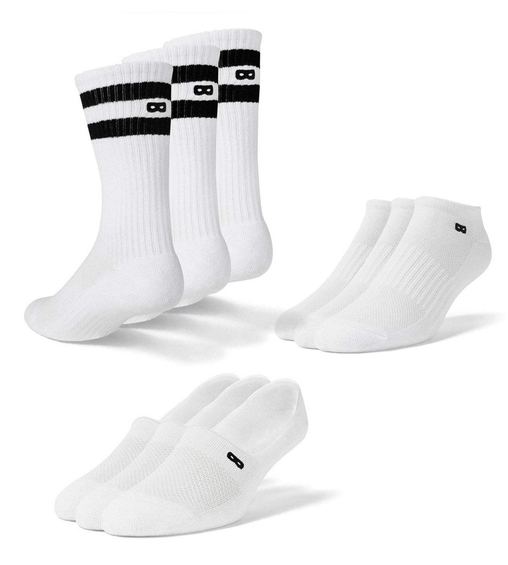 Women's Great Whiteout Mix Socks 9 Pack