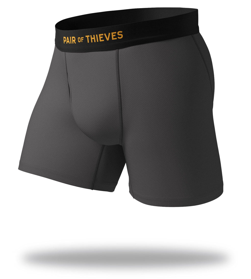 The Solid Charcoal Grey Cool Breeze Boxer Brief