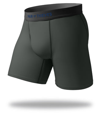 The Solid Gargoyle Grey Cool Breeze Long Boxer Brief