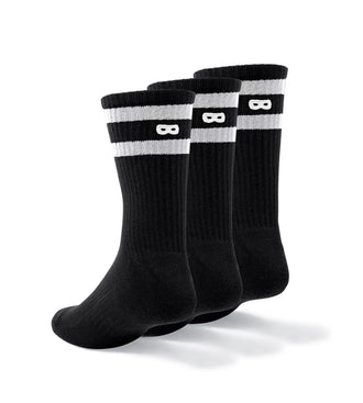Blackout Striped Men's Cushion Crew Socks 3 Pack