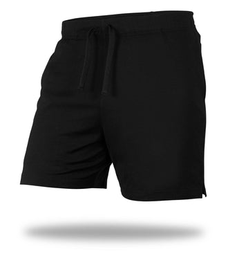The Solid Black Mega Soft Lounge Short