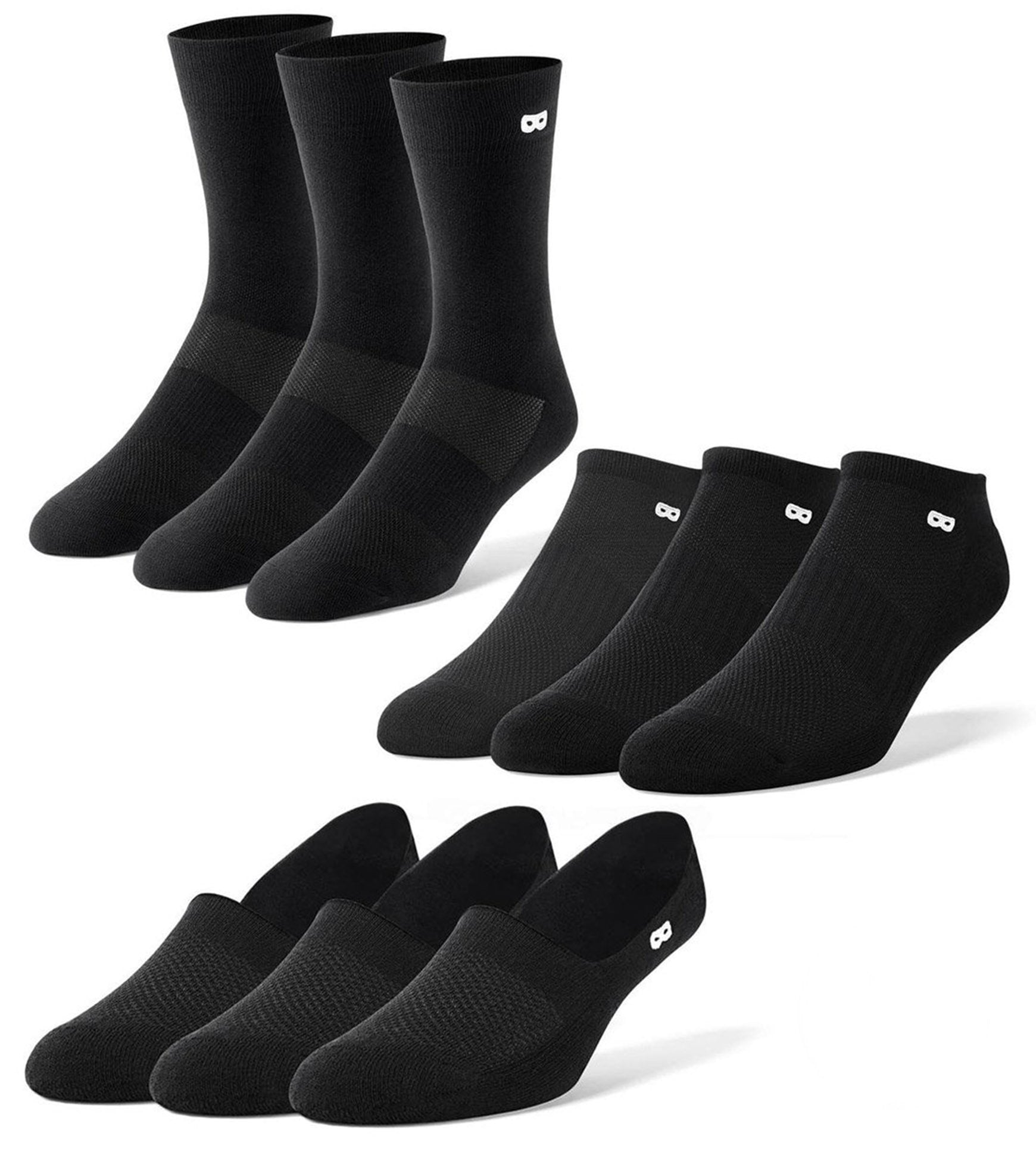 Men's Mega Blackout Socks 9 Pack
