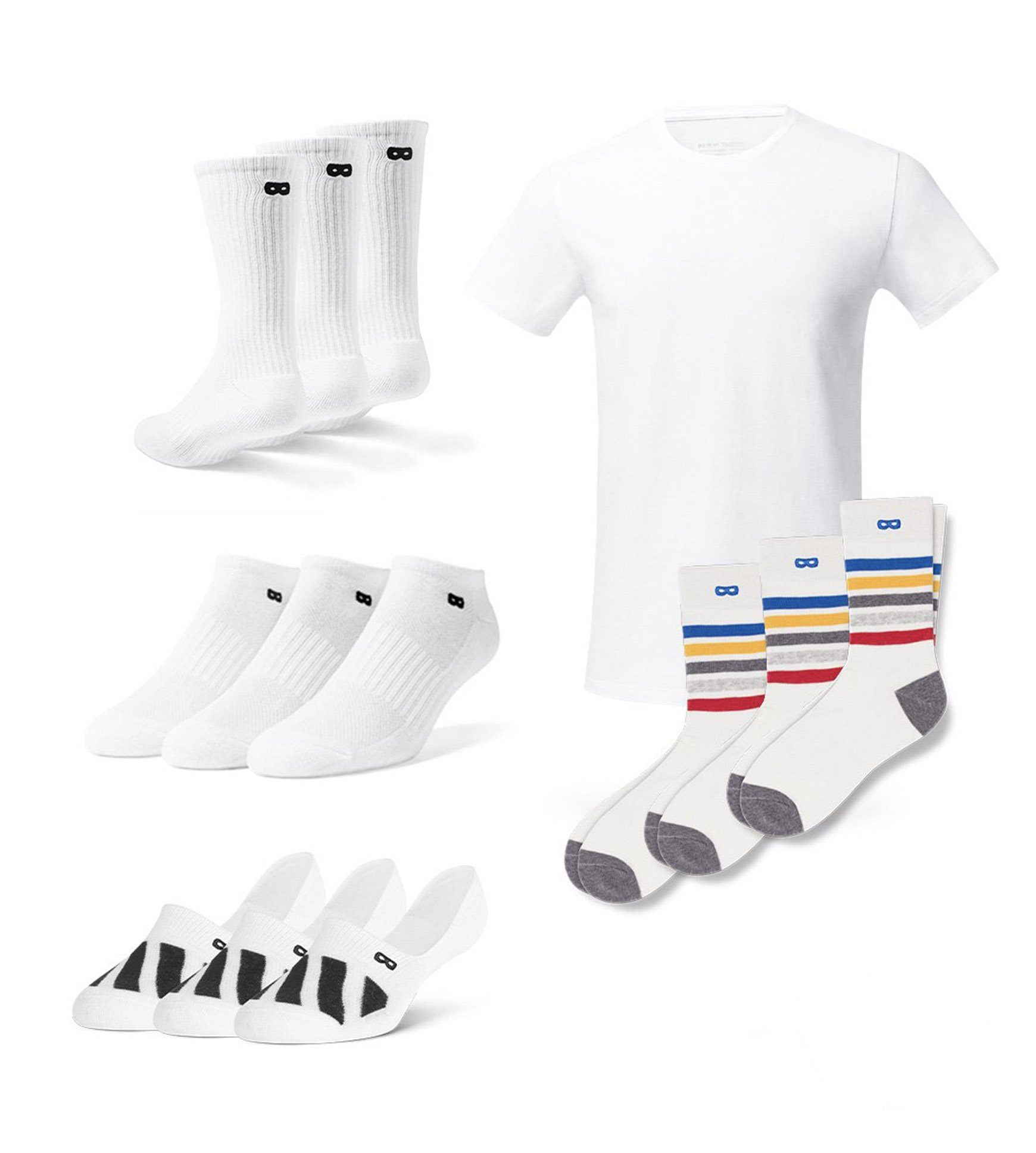 Men's White Stripes 13 Pack