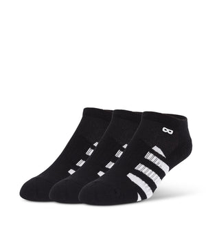 Blackout Striped Men's Cushion Low-Cut Socks 3 Pack