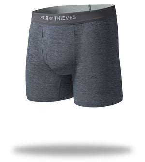The Solid Charcoal SuperSoft Boxer Briefs Front