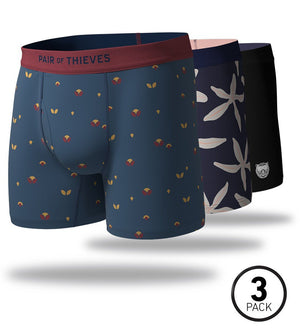 Birds of a Feather SuperSoft Boxer Briefs 3 Pack