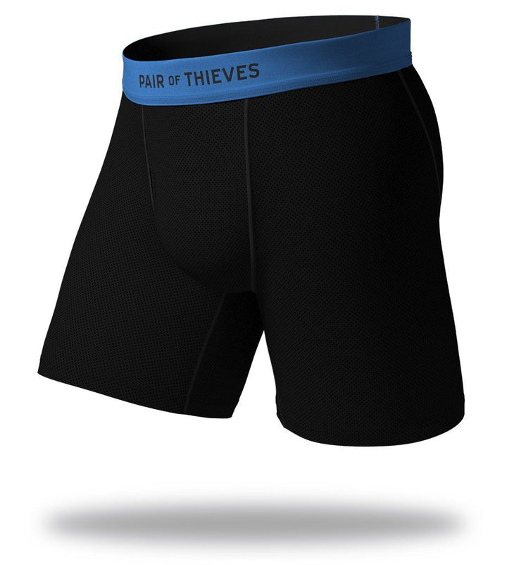 Blue Blackout SuperFit Long Boxer Briefs