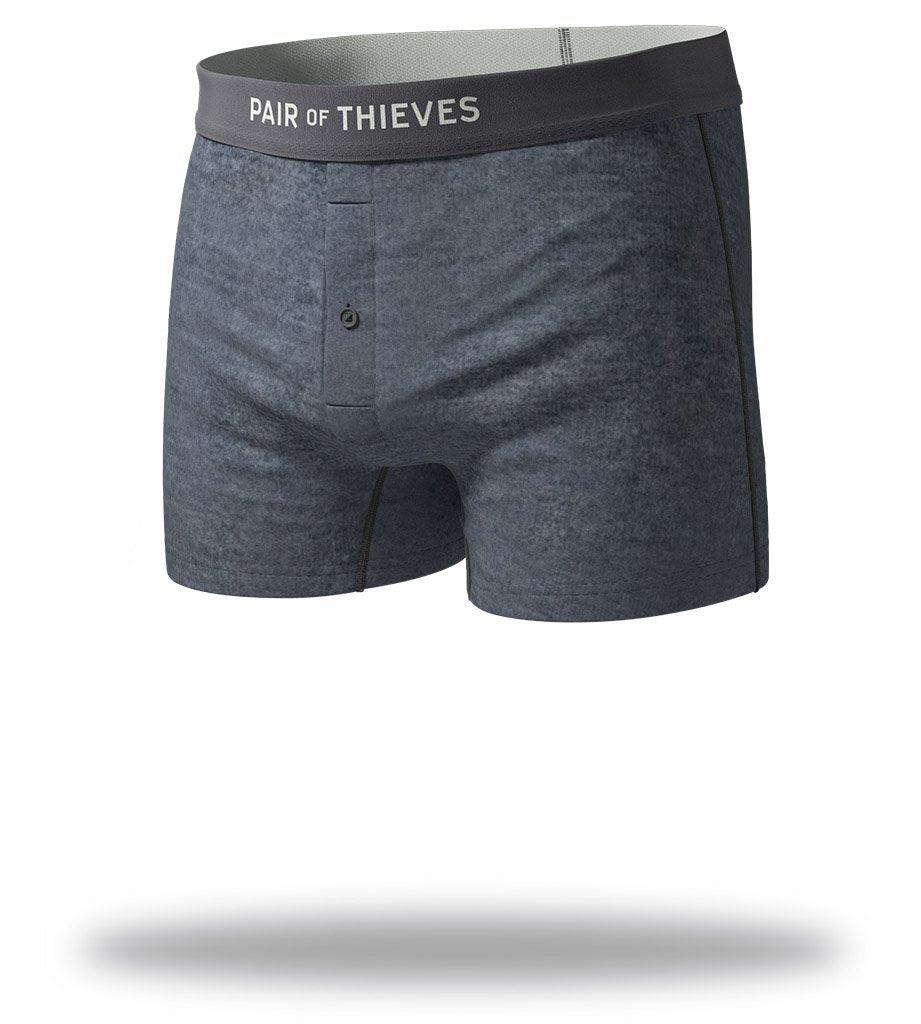 The Solid Charcoal SuperSoft Slim-Fit Boxers Front