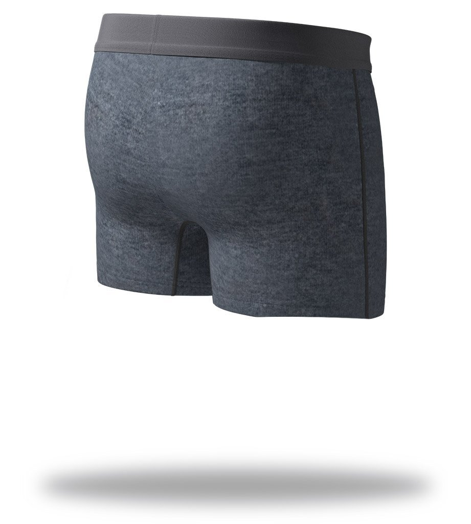 The Solid Charcoal SuperSoft Slim-Fit Boxers Back